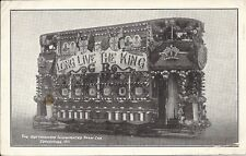 Postcard, United Kingdom, Nottingham Illuminated Train Car, Coronation 1911