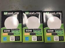 Lot of 3 -  6 Watt LED 40W Globe Dimmable Light Bulb by Maxlite