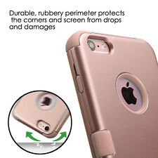 for iPhone 6 & 6S - ROSE GOLD Shockproof Hybrid Rugged Armor Impact Case Cover