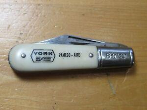 VTG UNUSED BARLOW COLONIAL LINER LOCK ELECTRICIANS POCKET KNIFE YORK BORG WARNER