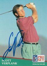 SCOTT VERPLANK -- 1991 PRO SET CARD #39 -- SIGNED / AUTOGRAPHED