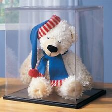 "2 PC DOLL & BEAR DISPLAY CASE AND METAL STAND 12"" x 12"" x 18"" HIGH NEW IN BOX"