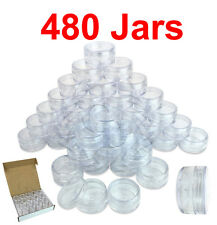 480 PACKs 10 Gram/10ML High Quality Makeup Cosmetic Sample Clear Jar Container