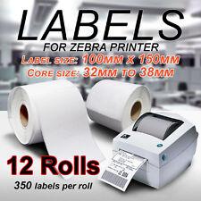12x Thermal Direct Labels Roll 100 X 150mm Fastway Startrack Zebra SATO DATA MAX