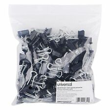 """144-Pack Small Universal Steel Wire Binder Clips 3/8"""" Capacity 3/4"""" Wide Double"""