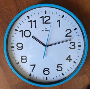 Orium Silent Wall Clock.30cm Diameter.Blue