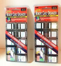 Lot of 2 Pioneer Memory Card Organizers Each Holds 10 Memory Cards and Are New