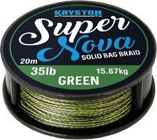 Kryston Super Nova Braid Carp Fishing Rig Hooklink 25lb Green