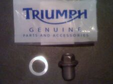 TRIUMPH 1050 SPRINT ST SUMP BOLT PLUG & WASHER 2005-2012 ENGINE DRAIN SCREW