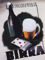 Italian Beer Birra Milano Grapes Italy Italia Drink 16X20 Vintage Poster FREE SH