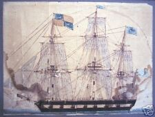 Pen and Ink with Watercolor on Paper, ca. 1820's