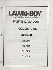 1989 LAWN-BOY COMMERCIAL MOWER C20CPR,C20CSR,C21CPN,C21CSN PARTS MANUAL (104)