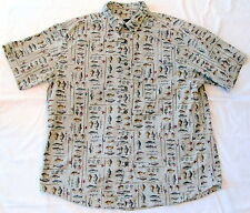 WOOLRICH Khaki freshwater fish XL 6643 Extra Large Short Sleeve Button Down