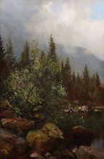Robert Schultze (*1828) Öl-Gemälde alt antik Impressionismus Landschaft ~1880