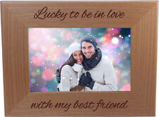 Lucky To Be In Love With My Best Friend 4-inch x 6-Inch Wood Picture Frame