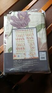 """Nice Pair of New Kinsale Curtains Lined Rose Heather/ Cream 66"""" w x 54"""" d"""