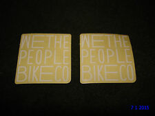2 AUTHENTIC SMALL WETHEPEOPLE BMX BIKES WHITE STICKERS #53 DECALS AUFKLEBER