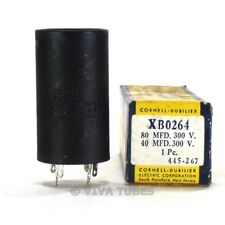 Nos Nib Cornell-Dubilier Xb0264 80-40 Mfd 300 Vdc Electrolytic Can Capacitor