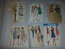 6 Vtg Sewing Patterns - Simplicity, Parade, 50s, 60s & 70's earlier (17)