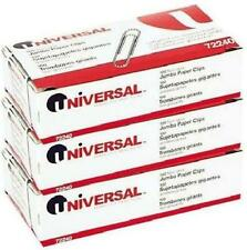 Nonskid Paper Clips Wire Jumbo Silver 100 Ct 3 Pk