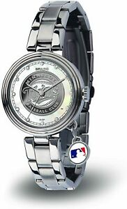 NEW! MINNESOTA TWINS WOMEN'S CHARM WATCH MOTHER OF PEARL LICENSED