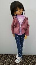 New listing Kaye Wiggs Msd Bjd 5 pc purple velour Hoody polkadot jeans Tshirt Socks Shoes