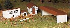 Bachmann Plasticville 45604 Farm Edificios Anexos Kit de Plástico o Calibre