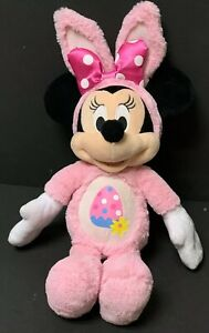 """21"""" Disney Just Play Easter Minnie Mouse Bunny Plush Pink Egg Soft Toy Doll Cute"""