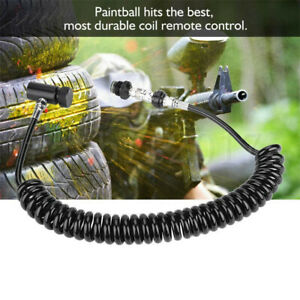 Outdoor Paintball Coil Remote Hose Line With Quick Disconnect&Slide Check-Black