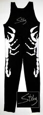 "Sting ""The Icon"" Autographed TNA Fullsize White Scorpion Tights ASI Proof"