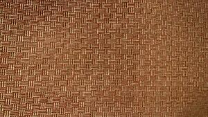 """TERRACOTTA AND GOLD GEOMETRIC UPHOLSTERY INTERIOR 3D SOFT FABRIC 11 1/2 YDS X55"""""""