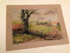 """Original 1978 """"Royce Harmer"""" Pastel Drawing on Paper - Signed Landscape Sketch"""