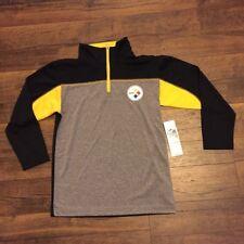 NFL Pittsburgh Steelers Juventud Manga Larga 1 4 con cremallera superior 77c8abdf40b