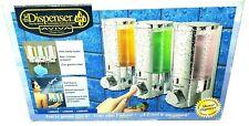 Shower Dispenser 3 Compartment Organizer for Shampoo & More by Avia New