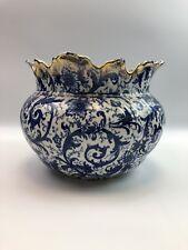 New listing Maddocks works Royal porcelain Fancy punch bowl Gold, blue & white floral