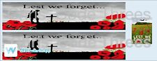 Code 3 Adhesive Trailer Decal - Lest We Forget livery 1/50 1/64 1/76 1/87 1/148