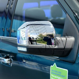 Fit 2015 2016 2017 2018 2019 FORD F150 F-150 Top half Chrome Mirror Cover 2PCS