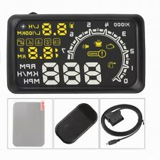 "W02 5.5"" Car OBDII OBD2 Head Up Display HUD KMH MPH Voltage Speed Warning System"
