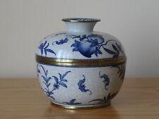 Antico VINTAGE Chinese Qing periodo blu e bianco porcellana POT JAR-Mark