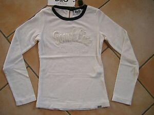 (C337) Dolce & Gabbana Girls Shirt tailliert + Strass Besatz & Stickerei gr.116