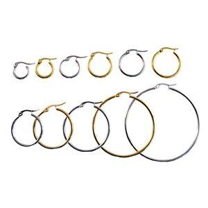 SALE: XXL Damen Riesen Creolen Ohrringe aus Edelstahl - 40-100mm - silber / gold