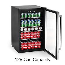 126-Can Beverage Center Party Fridge Beer Wine Soda 4.4 Cubic Feet