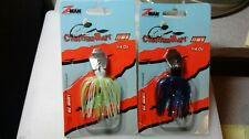 'CHATTER BOX' LURES LOT OF 2 BY 'Z MAN', BOTH 1/4 OZ, 1 CHART/WH, 1 BLACK/BLUE