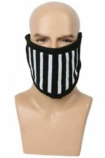 Ticci Toby Face Mask Cosplay Black White Stripes Cotton Costume Accessory