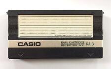 CASIO RA-3 VOICE DATA RAM CARTRIDGE For CZ-101, 1000, 3000, 5000 Synthesizer