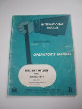 IH International Hough HAH-F Front-End Wheel PAY Loader Tractor Operator Manual
