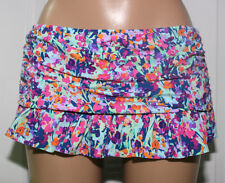 NEW Kenneth Cole Navy Floral Ruffled Swimwear Skirted Bottom XL XLarge RS6RJ92