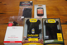 Lot of 5 Cell Phone Items – Otter Box Cases – Headsets – Protectors – Covers