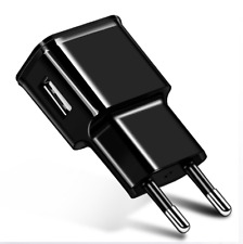 European USB plug Euro Europe EU 2 pin 2A USB Wall Plug Charger black