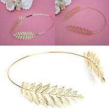 Wedding Crown Hair Band Clip Laurel Plated Gold Headwear Headband Hairpin Leaf